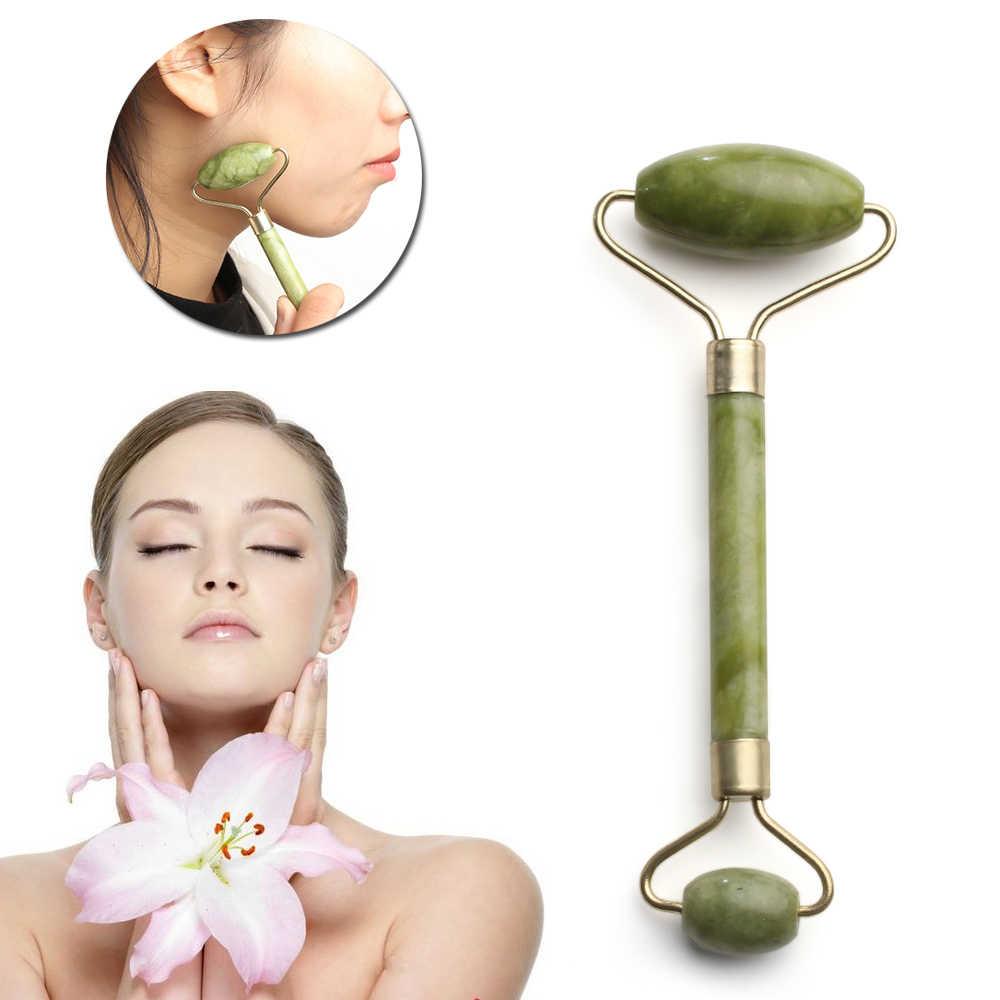 Pijat Wajah Jade Roller Alami Kecantikan Wajah Alat Pijat Jade Roller Wajah Tipis Massager