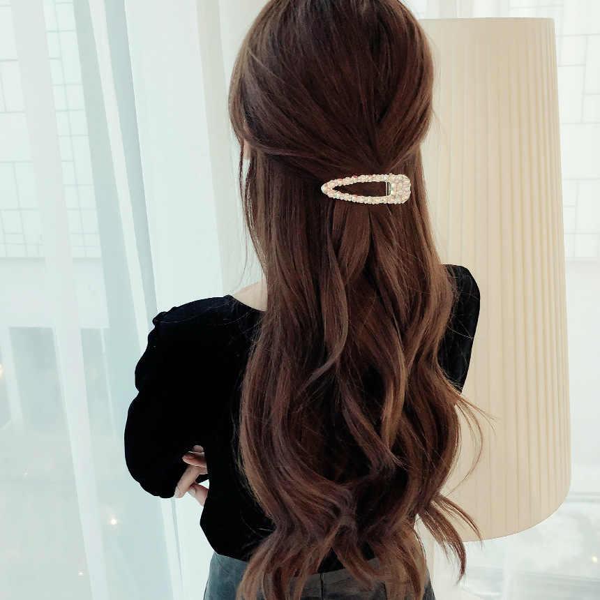 hair clip hair clip women womens hair clips 2019 Baru Fashion Korea Mengkilap Rhinestone Crystal Pearl Rambut Klip Jepit Rambut Jepit Rambut untuk Gadis Wanita Hiasan Kepala Rambut Aksesoris
