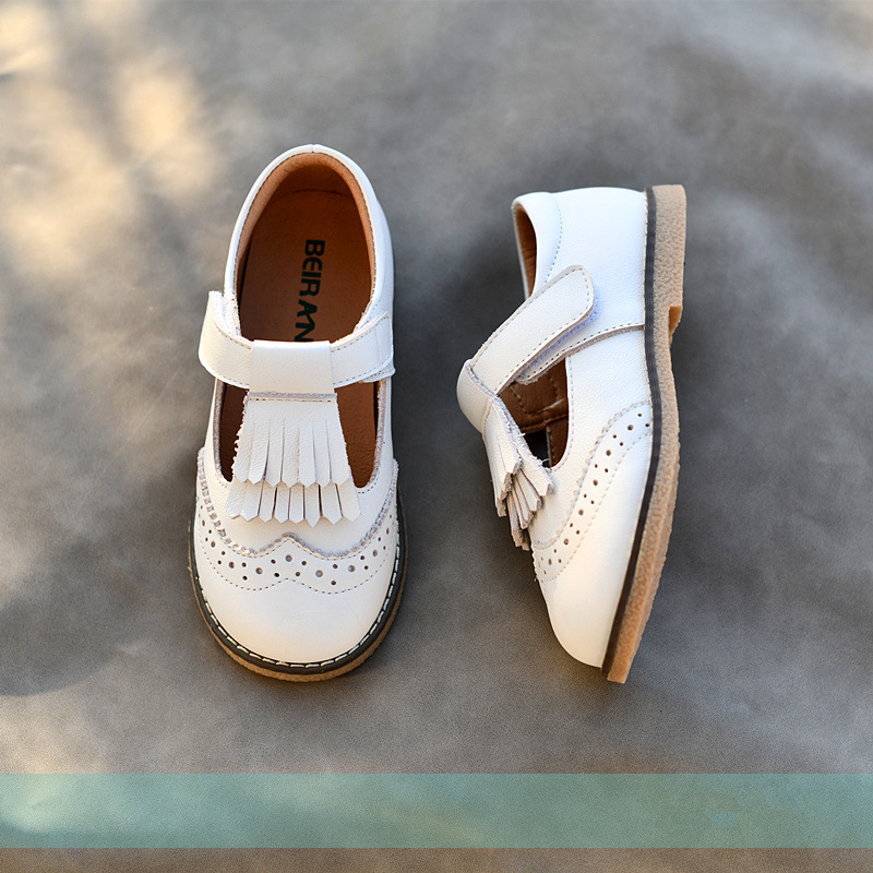 Genuine Leather Children Casual Shoes Fashion Tassel Princess Shoes Non-slip Breathable Baby Girls Shoes