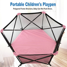 цена Children Playpen Baby Toy Folding Fence Game Fence  Portable Indoor And Outdoor Baby Safety Fence Crawling Mat Playground онлайн в 2017 году