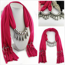 tassel polyester scarf CCB water drop necklace pendant lady hundred lap sweatcloth jewelry