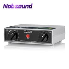 Nobsound Portatile 4 way Analogico RCA Stereo Audio Switcher Controllo Del Volume Passivo Preamplificatore Splitter Box