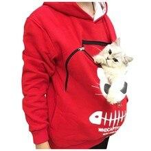 Зимние женские толстовки с капюшоном, Женская толстовка, мешок с нарисованным животным капюшоном, топы с котом, дышащий пуловер, толстовки# guahao