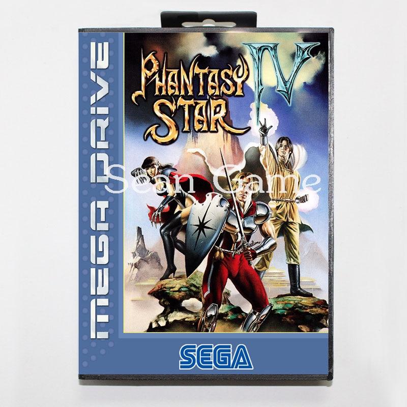 Elevata prestazione 16 Bit MD Game Card for Sega Mega Drive Phantasy Star 4 Cover With Retail Box