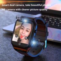 Reloj inteligente 4G para hombre, dispositivo con Android 9,0, tarjeta SIM, cámara, teléfono, Wifi, Internet, HD, grabación de videollamadas, linterna multifuncional