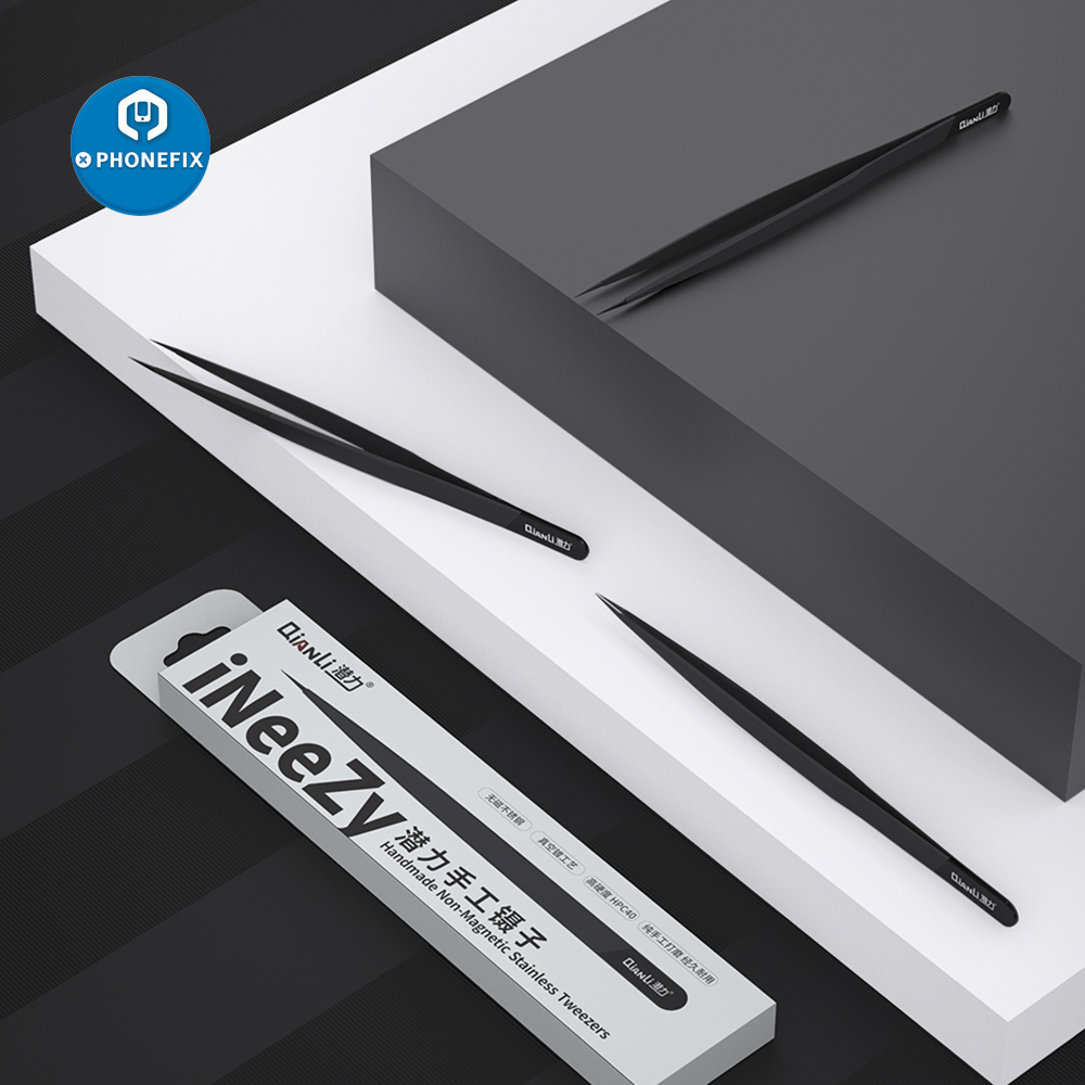 Qianli Handmade Tweezers Hand Polished Manual Gringding Tweezers Non Magnetic Stainless Forceps Repair Electronics Tool Kit|Industrial Tweezers| |  - title=