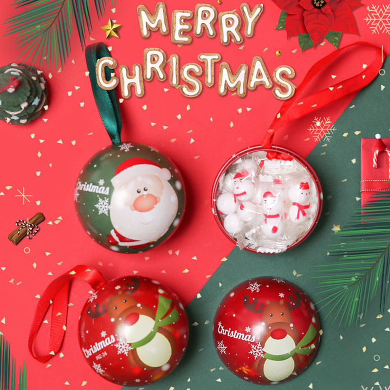 Merry Christmas Candy Genie Box Family Christmas Tree Decorations Gift Box Joyful Box 2020 New Year Santa Claus Snowman Elk Box