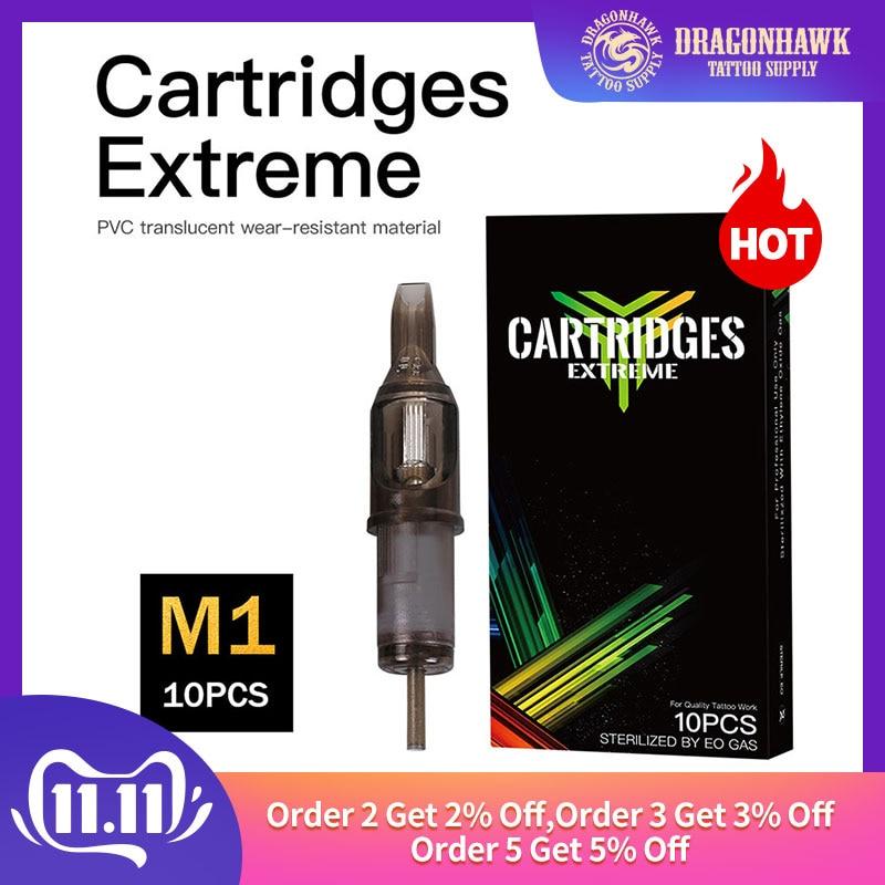 10 Pcs Sterile Tattoo Cartridge Needles Permanent Makeup Magnum M1 Disposable Needles Supplies