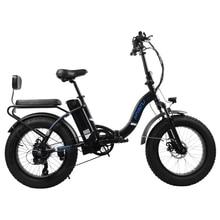 цена на MYATU Folding electric bicycle wide tire mountain bike snow beach car lithium battery power long-distance running electric car