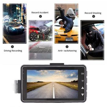 Vehemo 3 Inch LCD Screen Video Recorder Motorcycle Driving Recorder Automobile Car DVR for HD 1080P Night Vision Waterproof