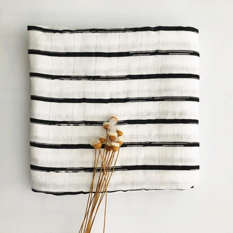Детское бамбуковое одеяло из органического хлопка для новорожденных, муслиновое Пеленальное полотенце для кормления - Цвет: black bamboo