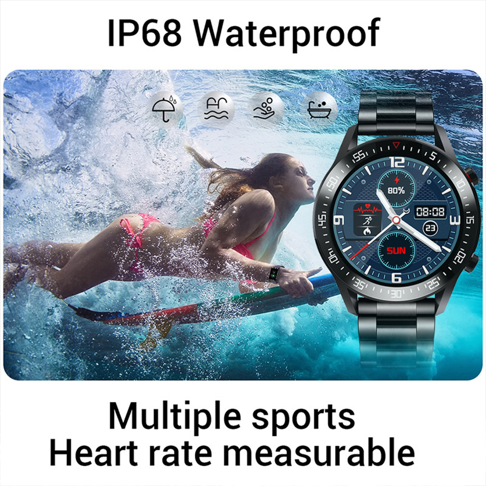 H62b9c0940dde46e280cd5eff09fdd899D LIGE New Smart watch Men Full touch Screen Sports Fitness watch IP68 waterproof Bluetooth Suitable For Android ios Smart watch