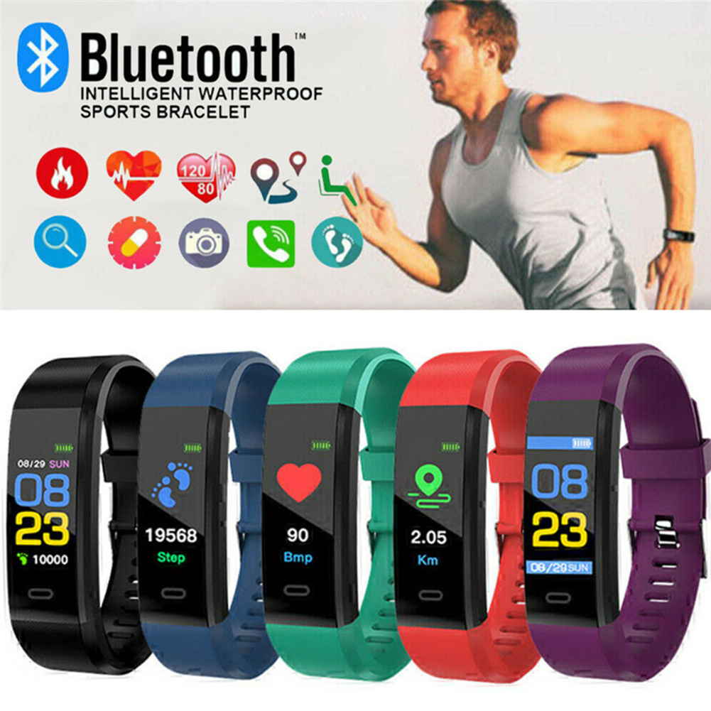 Bluetooth4.0 Fashion New ID115Plus Smart Watch Waterproof Swim Wristband Fitness Tracker Sleep Heart Rate Monitor Sport Bracelet image