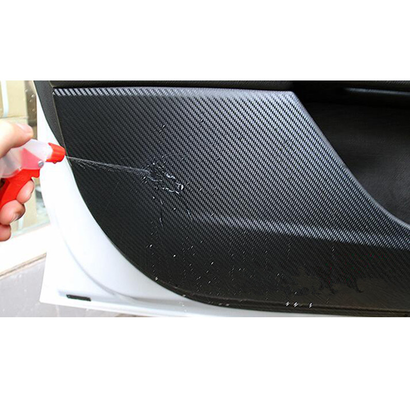 lowest price For Volkswagen VW Tiguan L 2017 2018 Carbon Fiber Style Car Door Anti-Kick Pad Protective Film Car Stickers 4Pcs