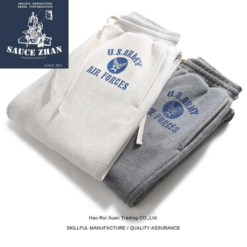 SauceZhan spodnie dresowe spodnie męskie męskie spodnie joggery Plus aksamitne spodnie dresowe spodnie zimowe człowiek dorywczo spodnie bawełniane