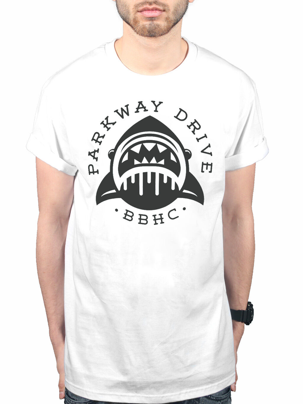 Official Parkway Drive Shark BBHC New Unisex T-shirt Metalcore Band Merch Printed T Shirt Short Sleeve Men image