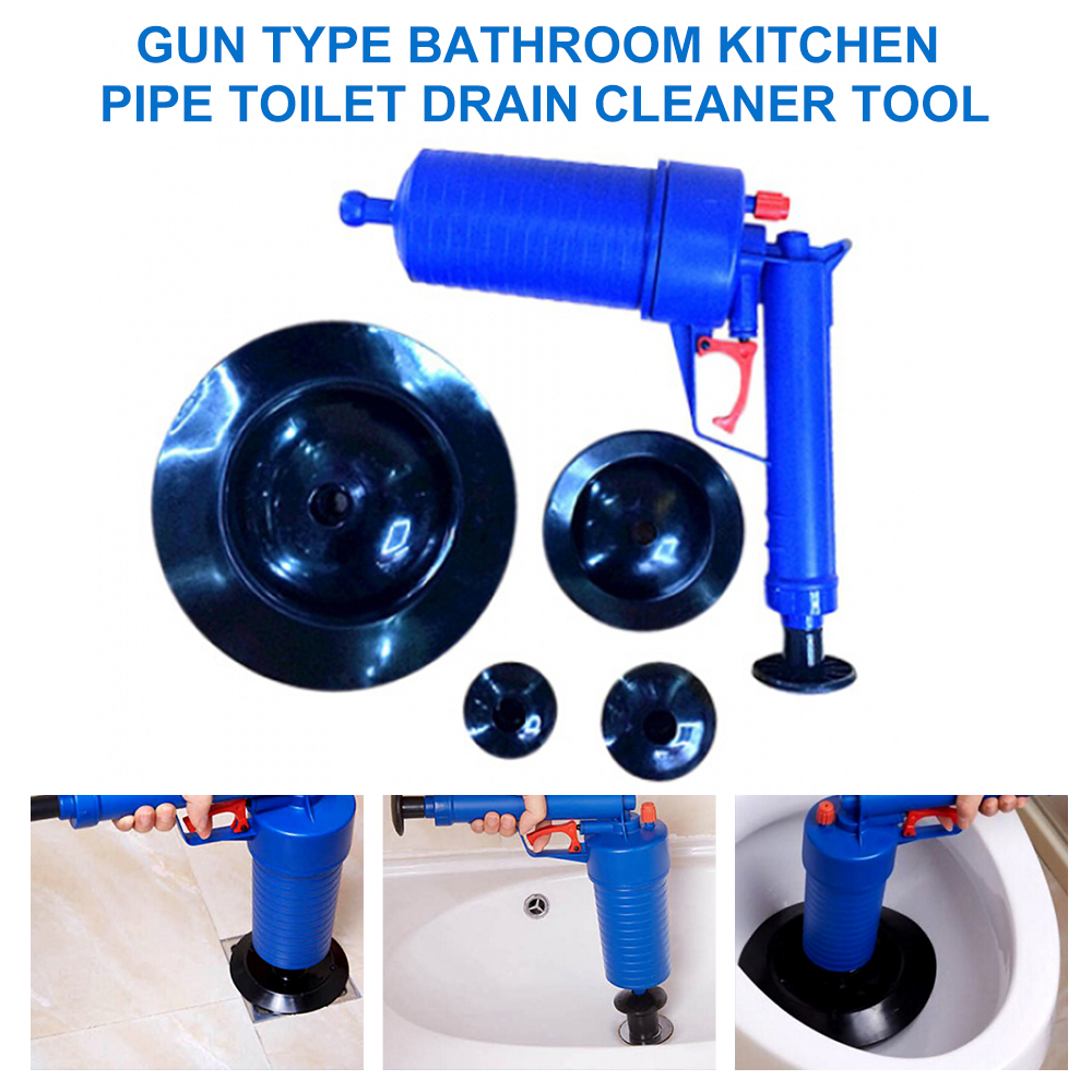 Toilet Dredge Plug Air Pump Blockage Remover Sewer Sinks Blocked Cleaning Tool Pipe Plunger Bathroom Drain Cleaners Kitchen Tool
