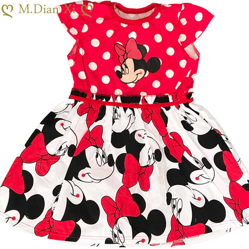 Toddler Baby Girls Summer Cartoon Dress Short Sleeve Minnie Party Princess Dress