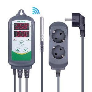 Image 1 - Inkbird controlador de temperatura Digital para el hogar controlador de temperatura Digital con enchufe europeo, WIFI, ITC 308 y 308, con relés duales, calefacción y refrigeración