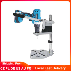 Drill Press Stand Adjustable Single Head Electric Drill Holder Bracket Bench Drill Chuck Press Stand Power Tools Accessories