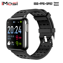 Imosi V5 ECG PPG Smart Watch Blood Pressure Oxygen Sport Band Heart Rate Monitor Men Women Smartwatch for  Xiaomi android IOS