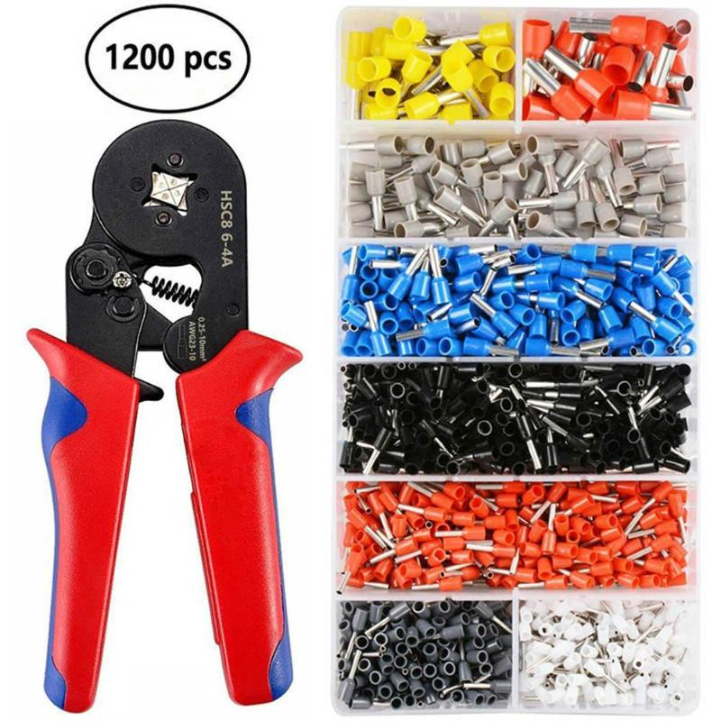 1200pcs Mites Crimping Tool Cold-pressed Terminals Connector Crimping Pliers Toolkit Copper Tools Tinning Wire Cable Accessories