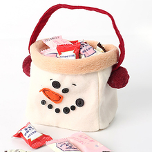 Christmas Supplies Snowman Candy Bag Tote Decorations Gift Gifts