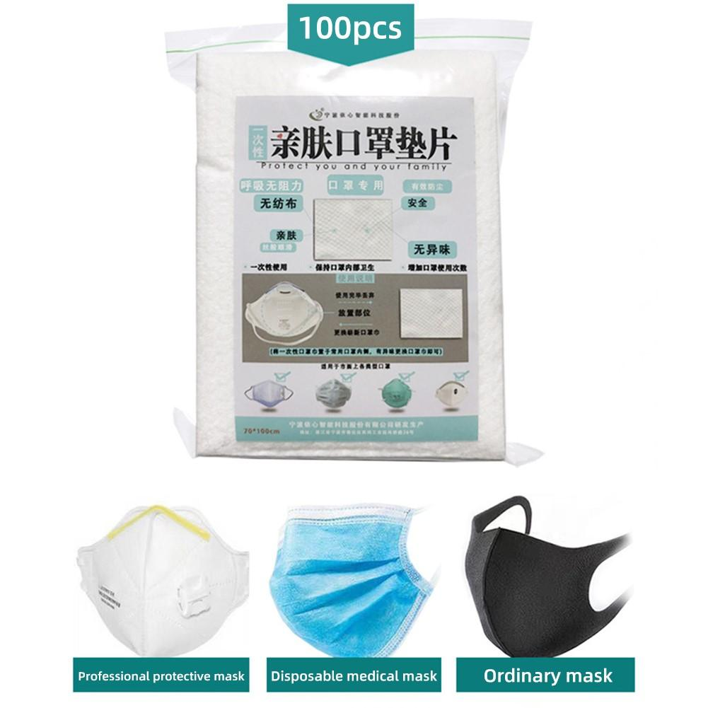100Pcs Respirator Mask Filter Cotton Mask Filter Cartridge Dust-proof Mask Replacement Filter 2020 New Nose Mouth Mask