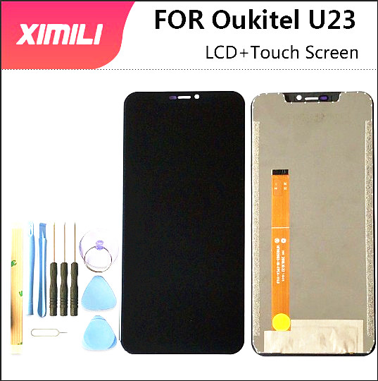 6.18 inch For Oukitel U23 LCD Display+Touch Screen Screen Digitizer Assembly Repair Parts For Oukitel U23 LCD+Free Tools +3m