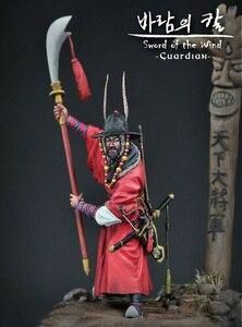 Image 1 - 1/24 75 millimetri antichi Samurai Guardiano con grande base di figura In Resina kit Modello In Miniatura gk Unassembly Non Verniciata