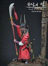 1/24 75mm  ancient Samurai Guardian with big base  Resin figure Model kits Miniature gk Unassembly Unpainted