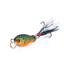 1pcs 4.8g Fishing Lure wobblers spinner metal lures vib Hard Baits With Feather Treble fishing tackle