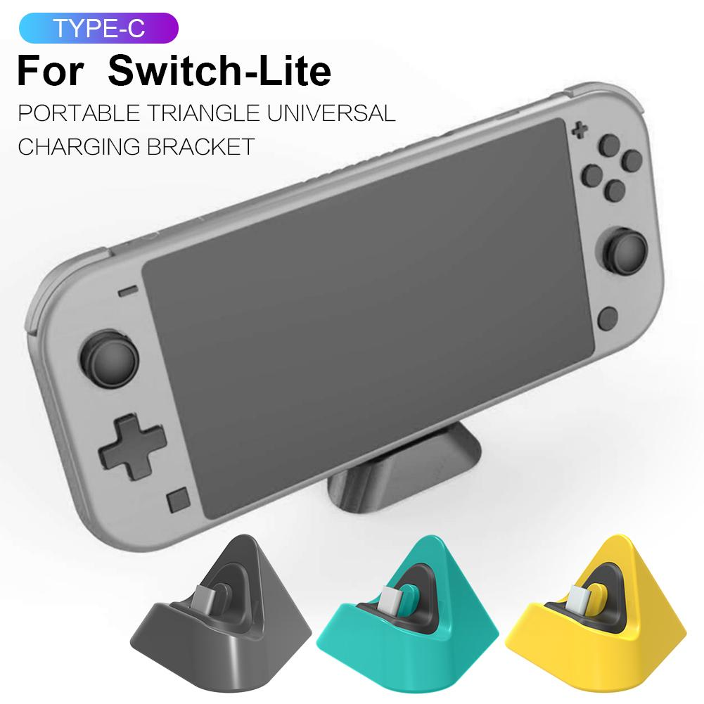 Portable Triangle Universal Gaming Machine Charging Base Bracket Charger For NS Switch Lite Holder Phone Stand