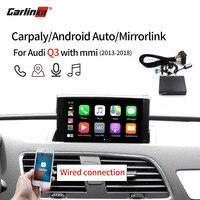 Carlinkit Wireless/Wired Apple Carplay Decoder for Audi Q3 MMI 2013 2019 muItimedia interface CarPlay Android auto Retrofit Kit