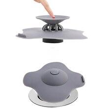 Rubber Circle Silicone Sink Strainer Filter Water Stopper Floor Drain Hair Bathtub Plug Bathroom Kitchen Cute Deodorant