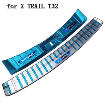 Car accessories Stainless Steel Rear Bumper Protector Sill Trunk Tread Plate Trim for Nissan X-TRAIL T32 2017-2018 Car styling
