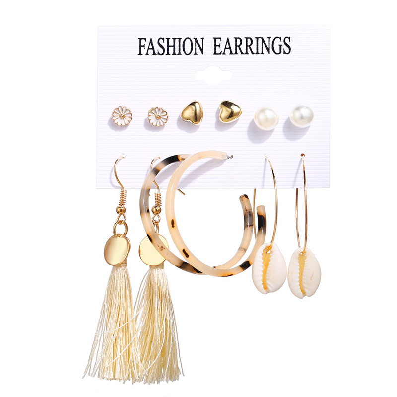 H62baf83c99de438c9370506e5ad33e4dl - IF ME Fashion Vintage Gold Pearl Round Circle Drop Earrings Set For Women Girl Large Acrylic Tortoise shell Dangle Ear Jewelry
