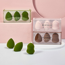Gourd powder puff slant head water drop beauty makeup egg sponge dry and wet dual purpose color makeup egg 3 gift box set