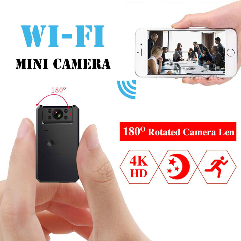 Мини WiFi камера 4K HD видео аудио рекордер с ИК ночного видения обнаружения движения маленькая беспроводная видеокамера мини камера
