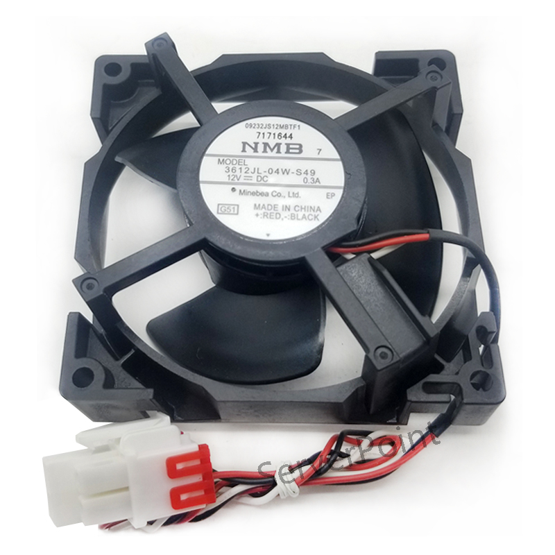 Free shipping Original NEW NMB-MAT 3612JL-04W-S49 12V 0.3A for Refrigerator cooling fan