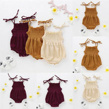 Organic Cotton Baby Girl Clothes Summer New Double Gauze Kids Ruffle Romper Jumpsuit Headband Dusty Pink Playsuit For Newborn
