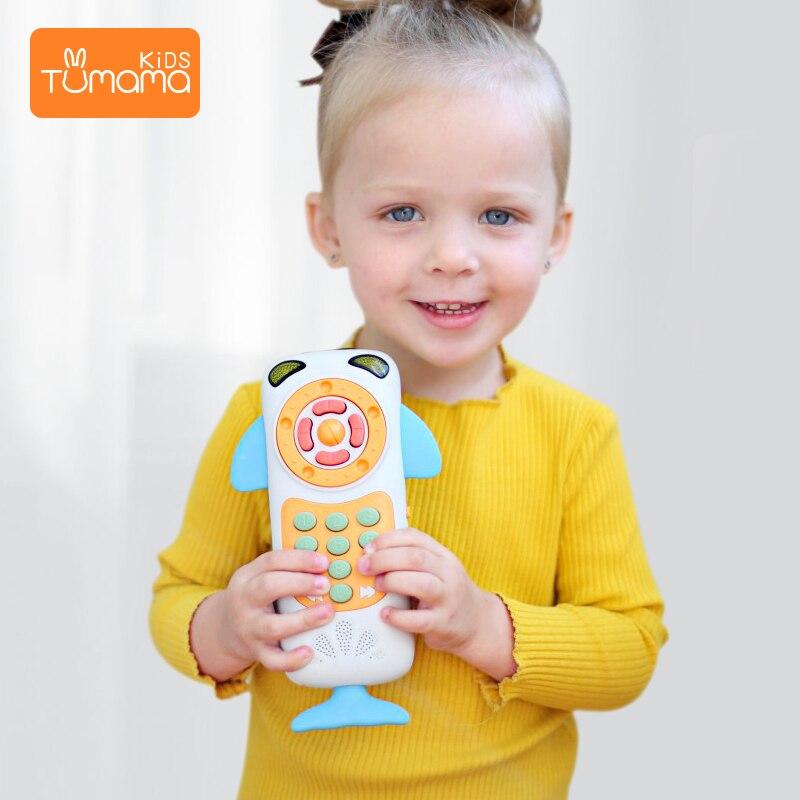 Juguetes para teléfono móvil de bebé para bebé teléfono Musical de Aprendizaje Temprano teléfono de juguete Musical para niños