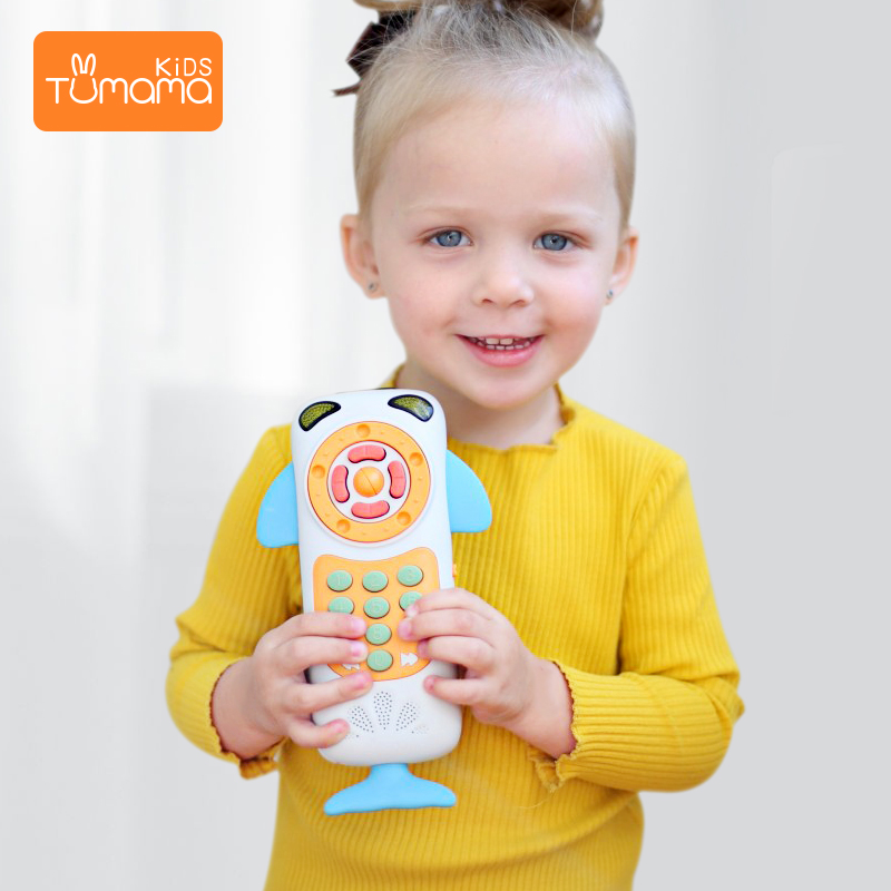 Tumama Baby Mobile Phone Early Educational Learning Telephone Kids Musical Toys For Baby Music Phone