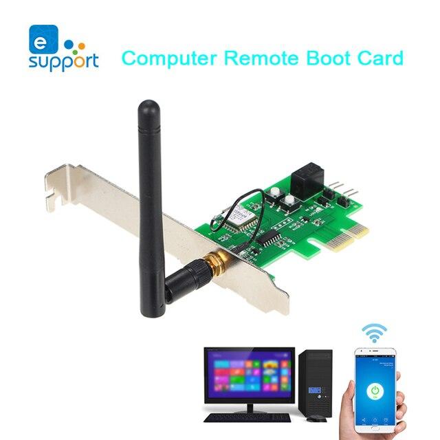 EWeLink, tarjeta de inicio remota por ordenador, Control remoto, interruptor WIFI inalámbrico para el trabajo en computadora con Google Home y Alexa