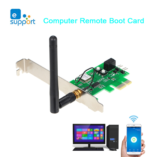 eWeLink Computer Remote Boot Card Remote Control Wireless WIFI Switch For Computer Work with Google Home and Alexa