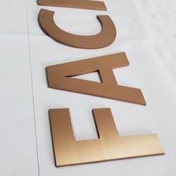 Metal laser cut golden rvs solid cut brief teken hoge kwaliteit duurzaam teken letters voor outdoor
