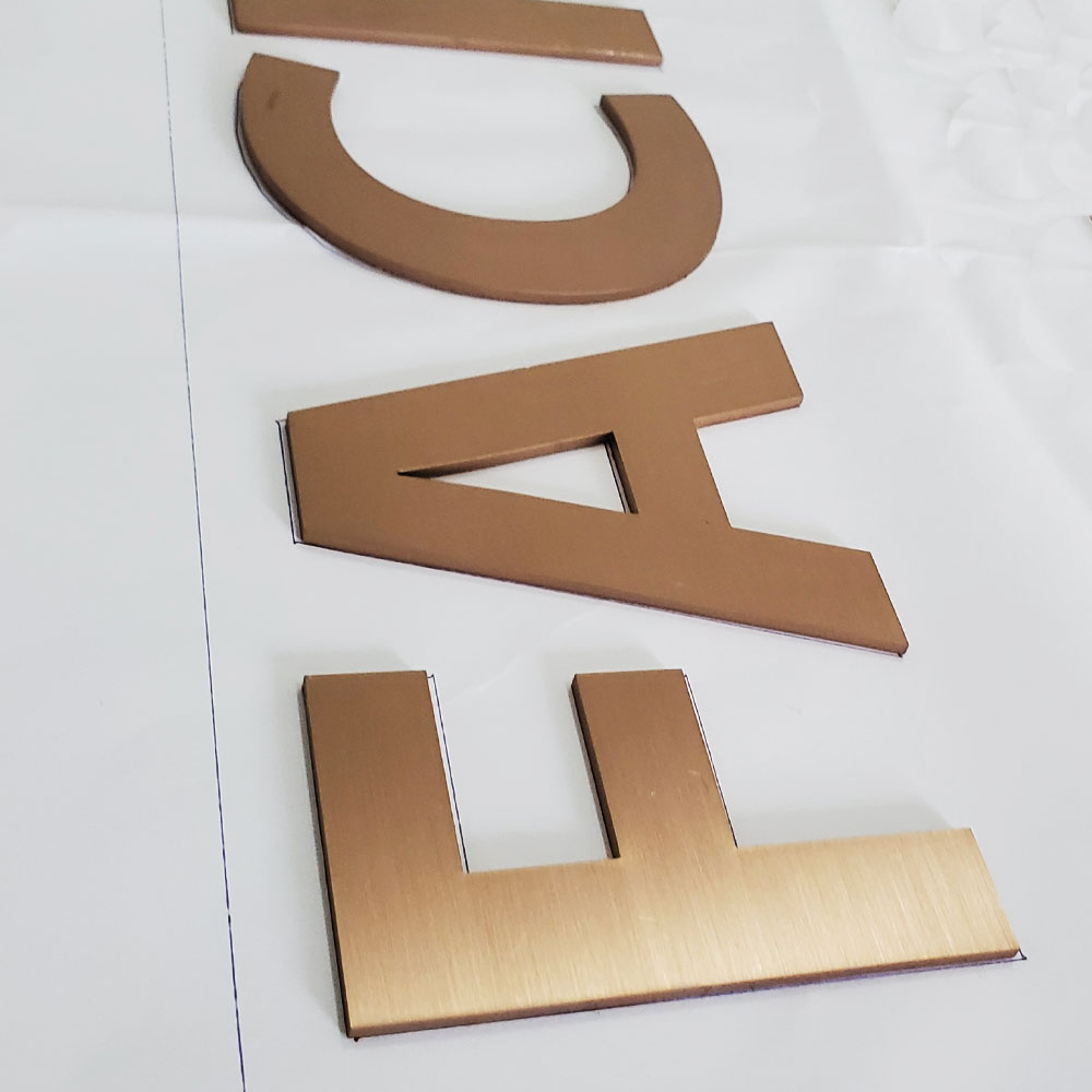Metal Laser Cut Golden Stainless Steel Solid Cut Letter Sign High Quality Durable Sign Letters For Outdoor