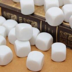 Dados blancos de acrílico D6 de 16mm, 25 uds., juego de mesa DIY, Juguetes Divertidos, Herramientas Matemáticas, accesorios de fiesta, TSLM1