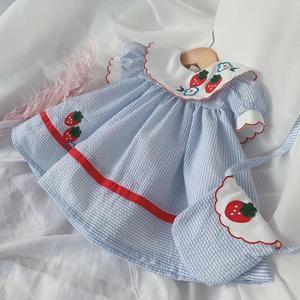 2 шт., летняя одежда для маленьких девочек, винтажное платье лолиты с вышитым принтом, вечерние платья для девочек на день рождения, Y2772