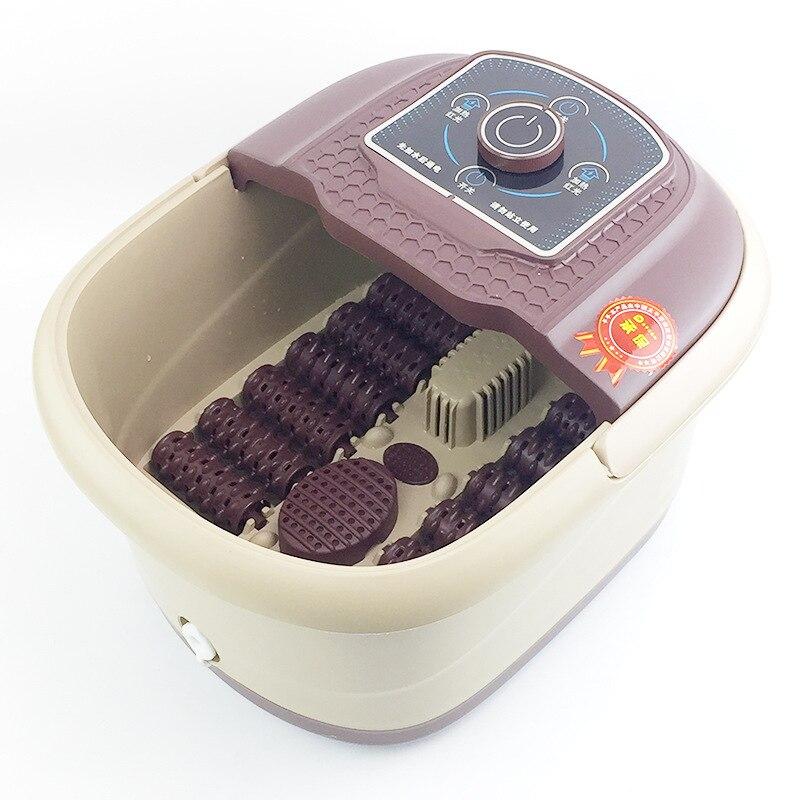 Bain de pieds santé chauffage manuel Massage bain de pieds 12 roues seau de Massage poignée Portable pieds SPA baril pieds-bassin de Massage